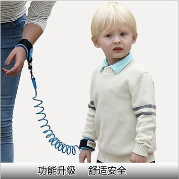 Baby Safety Harness Children Safety Belt Buckle Walking Anti Lost Wrist Tape Traction Rope Flexible Protection Hand Belt Leash