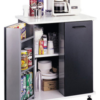 Safco Refreshment Stand with Steel Shelves