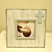 Medium Baptism/Commitment/Dedication Picture Frame with Cross