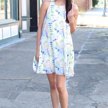 The Neon Lights Shift Dress {Ivory Mix}