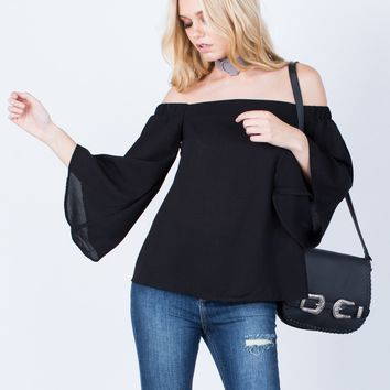 Flow Off-the-Shoulder Top