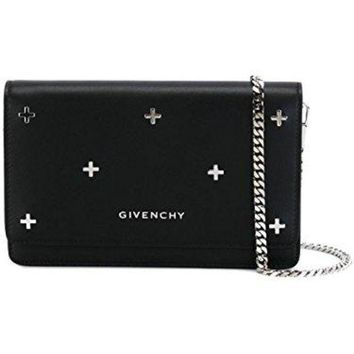 DCCK6N8 GIVENCHY WOMEN'S BC06250683001 BLACK LEATHER SHOULDER BAG