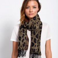 GET SPOTTED CHEETAH CASHMERE SCARF