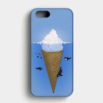 Polar Ice Cone And Whale iPhone SE Case