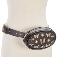 Steve Madden Embellished Quilted Fanny Pack Handbags & Accessories - Macy's