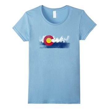 Colorado State Flag T-Shirt Mountain Colorado Family Gift