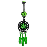 """Weed Catcher"" Belly Button Ring"