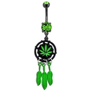 """""""Weed Catcher"""" Belly Button Ring"""