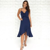 Country Charm Dress in Navy