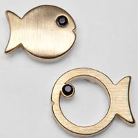 Here Fishy Stud Earrings