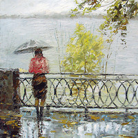 Loneliness - original oil acr. on canvas painting by Dmitry Spiros, 60 x 80, 24 x 32in