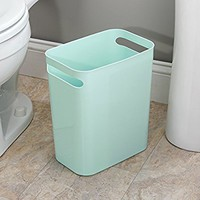 "Una Wastebasket Trash Can 12"", Mint"