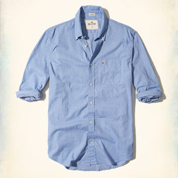 Guys Stretch Poplin Shirt | Guys Tops | HollisterCo.com