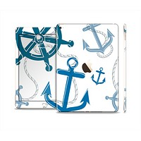 The Nautical Anchor Collage Skin Set for the Apple iPad Air 2