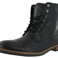 Ben Sherman Leon Men's Indian Leather Cap Toe Lace-up Boots