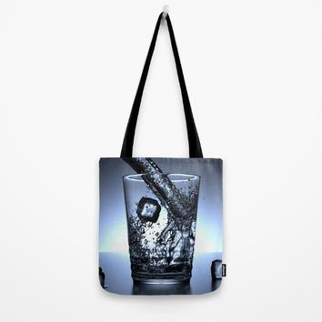 Glass of Water Tote Bag by Mixed Imagery