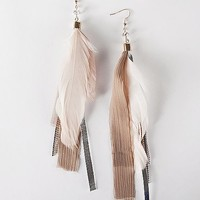 BKE Feather & Chain Earring