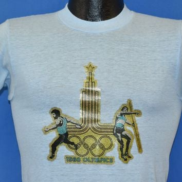 80s Moscow Olympic Games 1980 Iron On t-shirt Extra Small