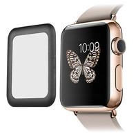 10Pcs/Lot Premium Real 0.2mm Tempered Glass Screen Protector Film with Full Cover Metal Edge for Smart Apple Watch i Watch 42mm
