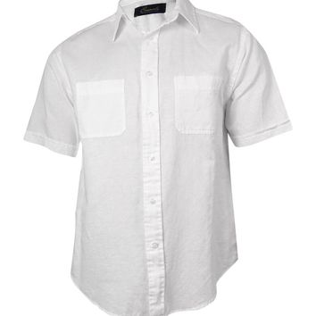Roundtree & Yorke Men's Casuals Woven Linen Cotton Shirt