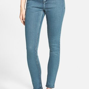 Junior Women's Lee Cooper 'Janie' Skinny Jeans (Deep Blue Canal)