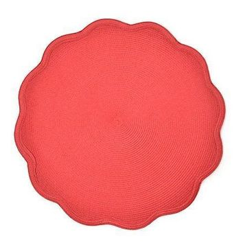 "16"" Round Scallop Placemat by DEBORAH RHODES  S/4 