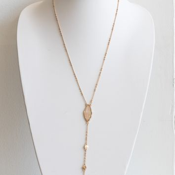 Shell Pendant Y Necklace