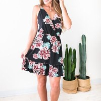 Keep It Strappy Ruffle Floral Dress