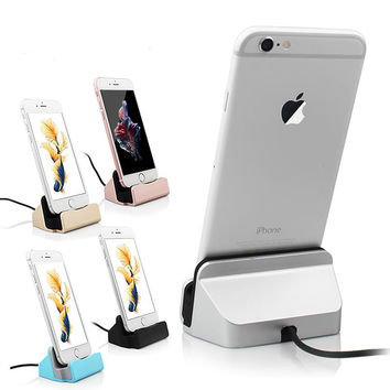 High Quality Sync Data Charging Dock Station Cellphone Desktop Docking Charger USB Cable For Apple iPhone 5 5S 5C 6 6 Plus