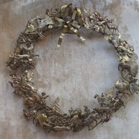 Vintage Petites Choses Brass All Holiday Wreath