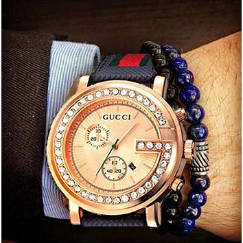 Gucci Classic Watch - Take the Pace of the Times Watch Diamond Rose Gold