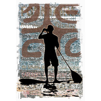 Stand Up Paddle Wood Sign