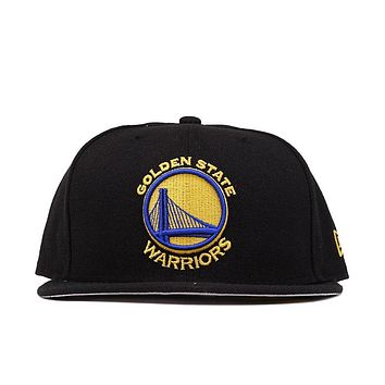 5950 WARRIORS FITTED HAT - BLACK