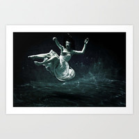 abyss of the disheartened : III Art Print by Heather Landis