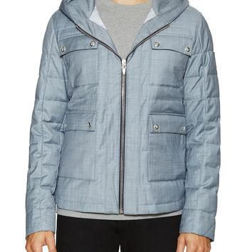 Moncler Gamme Bleu Men's Quilted Hooded Jacket with Patch Pockets - Size 2