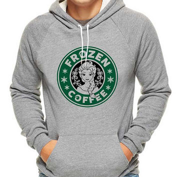 frozen coffee starbucks logo parody, hoodie for men, hoodie for women, cotton hoodie on Size S-3XL heppy hoodied.
