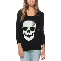 Volcom Girls Bad Toda Stone Black Sweater at Zumiez : PDP