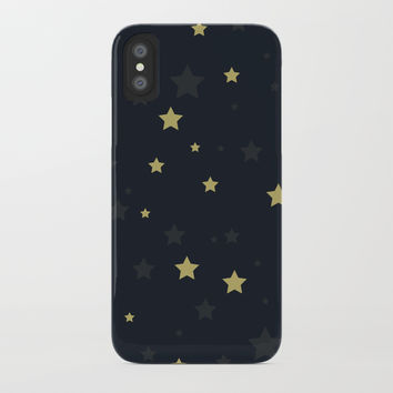 Stars II iPhone Case by printapix