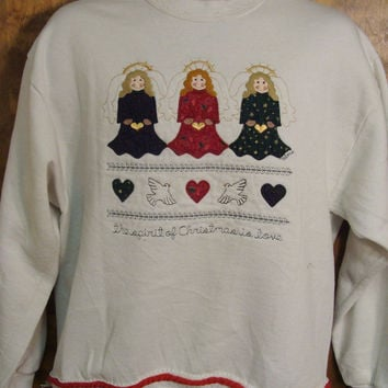 Angels Cute Christmas Sweatshirt