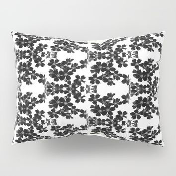 primrose bw pattern Pillow Sham by ARTbyJWP