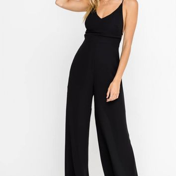 Strappy Open Back Cocktail Jumpsuit