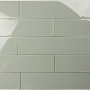 Eucalyptus 3X12 Subway Glass Tile