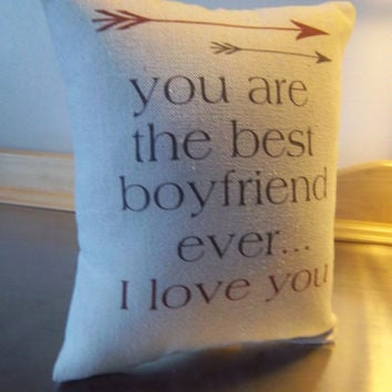 Best Boyfriend Gift Pillow Guy Cotton Canvas Textiles Love E Throw Minimalist Cushion Typography Birthday Gifts For On Wanelo