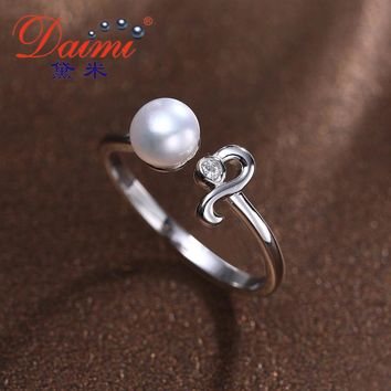 Silver Leo Ring  White Freshwater Pearl Ring Fine Constellation Jewelry For Women Sterling Silver Jewelry