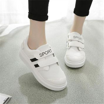 ESBONG Summer Velcro Korean Casual Thick Crust Shoes [9432942730]