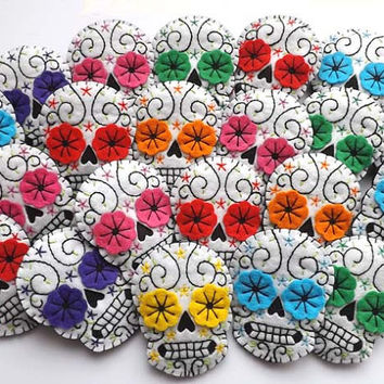 Day of the Dead Jewelry Brooch