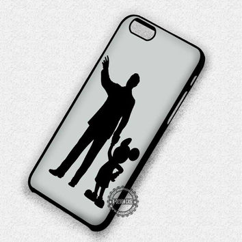 Famous Silhouette Mickey Mouse Walt - iPhone 7 6 5 SE Cases & Covers