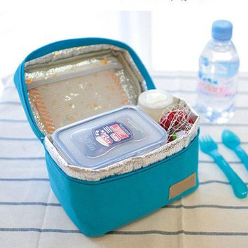 Insulated Cooler Lunch Tote Bag with Handle Travel Picnic Handbag Zipper Storage Containers
