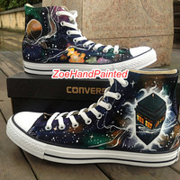 Doctor Who Converse Doctor Who Shoes DW 50th Doctor Who Galaxy Shoes Nebula High Top Hand Painted Shoes Custom Converse Shoes Canvas Shoes
