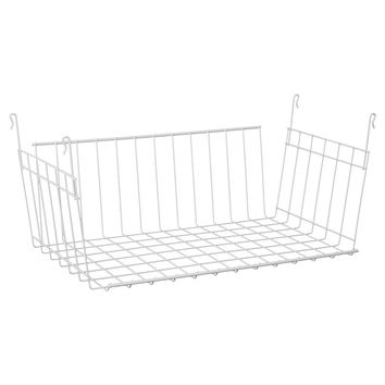ClosetMaid Open-Front Hanging Wire Basket - White : Target